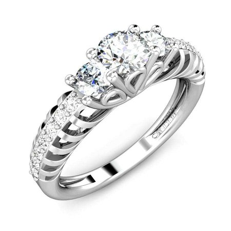 Solitaire  Diamond Rings White Gold 14kt - Peoria Solitaire Diamond Ring - Candere By Kalyan Jewellers