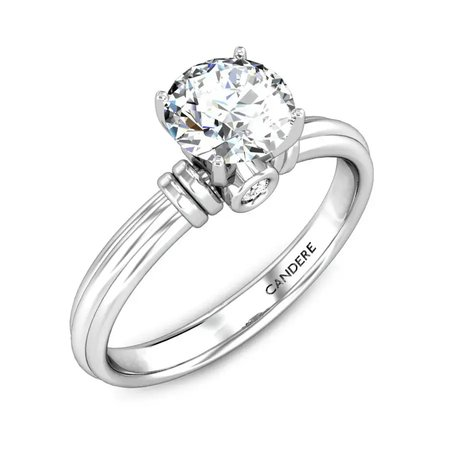 Solitaire  Diamond Rings White Gold 18kt - Damianos Solitaire Diamond Ring - Candere By Kalyan Jewellers