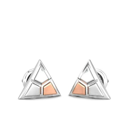 Gold And Platinum Earrings Platinum 950 - Ganya Platinum And Rose Gold Earrings - Candere By Kalyan Jewellers