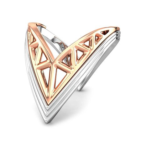 Gold And Platinum Rings Platinum 950 - Gallia Platinum And Rose Gold Ring - Candere By Kalyan Jewellers