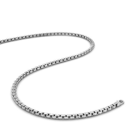 Platinum Chains Platinum 950 - Curved Square Platinum Chain - Candere By Kalyan Jewellers