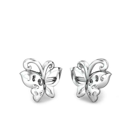 Platinum Earrings Platinum 950 - Butter Up Platinum Earrings - Candere By Kalyan Jewellers