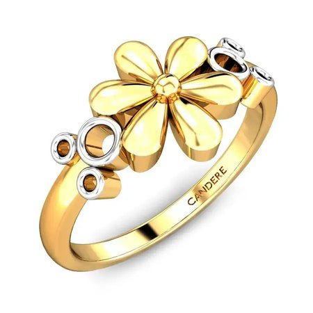 Gold Rings Yellow Gold 22kt - Naveena Gold Ring - Candere By Kalyan Jewellers