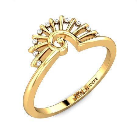 Gold Rings Yellow Gold 22kt - Cindrella Gold Ring - Candere By Kalyan Jewellers