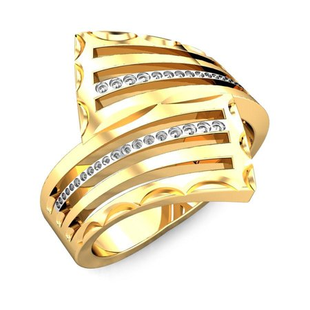 Gold Rings Yellow Gold 22kt - Jayna Gold Ring - Candere By Kalyan Jewellers