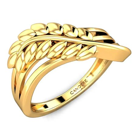 Gold Rings Yellow Gold 22kt - Irene Gold Ring - Candere By Kalyan Jewellers