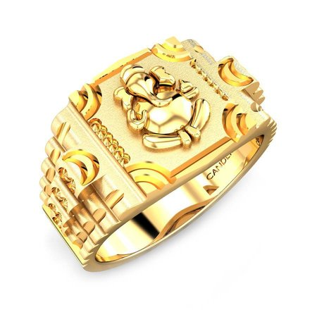 Gold Rings Yellow Gold 22kt - Mahodara Gold Ring - Candere By Kalyan Jewellers