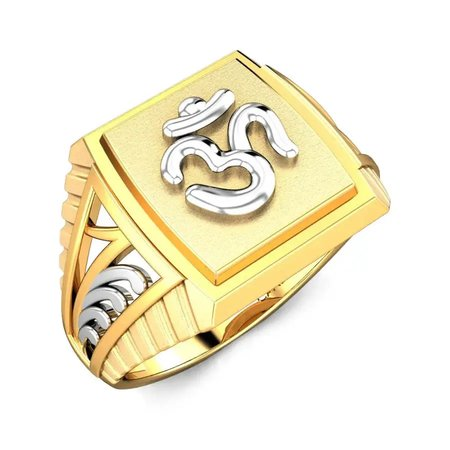Gold Rings Yellow Gold 22kt - Om Shanti Gold Ring - Candere By Kalyan Jewellers