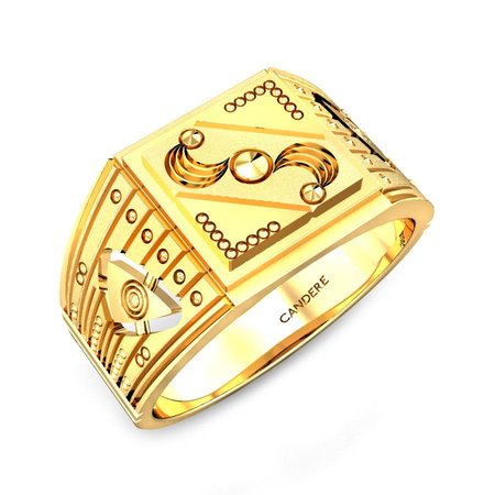 Gold Rings Yellow Gold 22kt - Clooney Gold Ring - Candere By Kalyan Jewellers