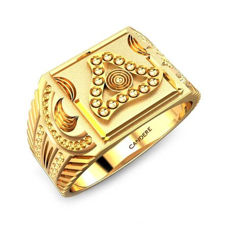Gold Rings Yellow Gold 22kt - Matt Gold Ring - Candere By Kalyan Jewellers