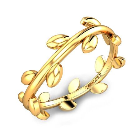 Gold Rings Yellow Gold 22kt - Briana Gold Ring - Candere By Kalyan Jewellers