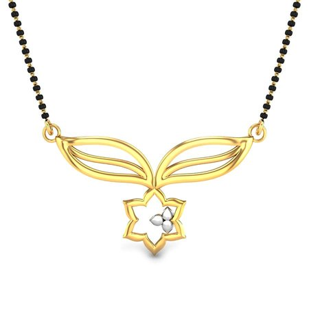 Gold Pendants Yellow Gold 22kt - Lydia Gold Mangalsutra Pendant - Candere By Kalyan Jewellers