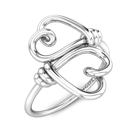 Gold Rings White Gold 18kt - Fragile Love Gold Ring - Candere By Kalyan Jewellers