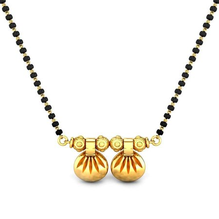 Gold Chains Yellow Gold 18kt - Maharashtrian Bride Gold Mangalsutra Fs - Candere By Kalyan Jewellers