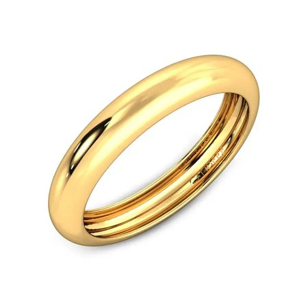 Gold Bands Yellow Gold 18kt - Glaucia Gold Band - Candere By Kalyan Jewellers