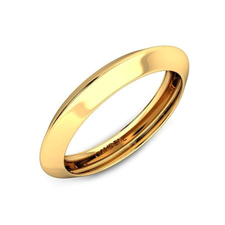 Gold Bands Yellow Gold 18kt - Gabri Gold Band - Candere By Kalyan Jewellers