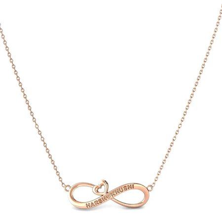 Gold Pendant With Chain Rose Gold 14kt - Garcia Gold Pendant - Candere By Kalyan Jewellers