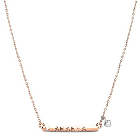 Gold Pendant With Chain Rose Gold 14kt - Aveah Gold Pendant - Candere By Kalyan Jewellers