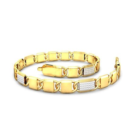 Gold Bracelets Yellow Gold 22kt - The Maxwell Gold Bracelet - Candere By Kalyan Jewellers