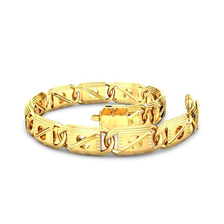 Gold Bracelets Yellow Gold 22kt - The Terrence Gold Bracelet - Candere By Kalyan Jewellers