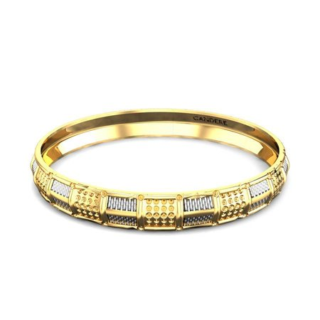 Gold Kada Yellow Gold 18kt - Fashionable Gold Kada For Men - Candere By Kalyan Jewellers