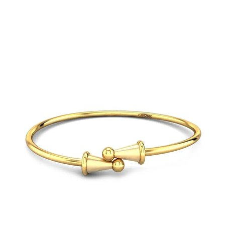 Gold Kada Yellow Gold 18kt - Little Ones Gold Kada For Kids - Candere By Kalyan Jewellers