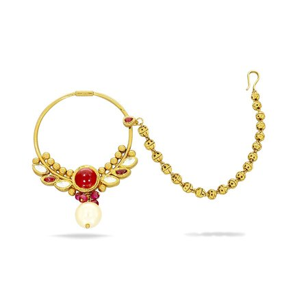 Gold Nath Yellow Gold 22kt - Arvi Mudhra Gold Nath - Candere By Kalyan Jewellers