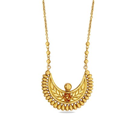 Gold Necklaces Yellow Gold 22kt - Nabanita Nimah Gold Necklace - Candere By Kalyan Jewellers