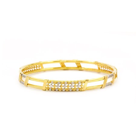 Gold Bangles Yellow Gold 22kt - Brujvali Kyra Gold Bangle - Candere By Kalyan Jewellers