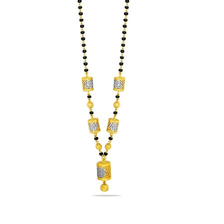 Gold Mangalsutra Yellow Gold 22kt - Karthika Sankalp Gold Mangalsutra With Chain - Candere By Kalyan Jewellers