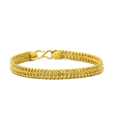 Gold Bracelets Yellow Gold 22kt - The Warrior Gold Bracelet - Candere By Kalyan Jewellers