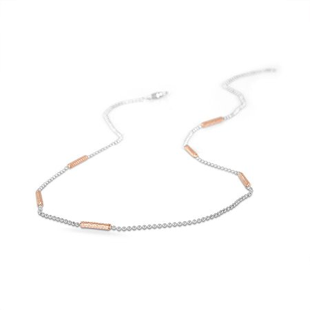 Gold And Platinum Chains Platinum 950 - Betiana Platinum And Rose Gold Chain - Candere By Kalyan Jewellers