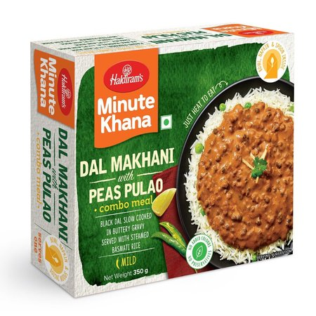 Ready To Eat Dal Makhni With Peas Pulav (350 g)